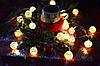 """Новогодняя гирлянда на батарейках из плетеных шариков """"Яркий Новый год"""""""