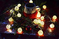 """Новогодняя гирлянда на батарейках из плетеных шариков """"Яркий Новый год"""", фото 1"""