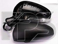 Зеркало лев. эл. с обогр. склад. грунт. асферич. 9 PIN +УК. пов. +подсвет.  Toyota Avensis 2011-15
