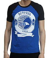 Футболка Ястребь Crew черно-синяя