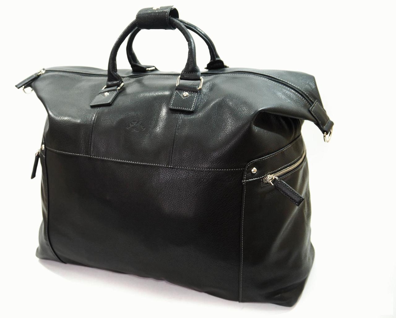 bcbabfd6 Женская кожаная дорожная сумка Katana 69231a Черный - Интернет-магазин  livelyshop в Виннице
