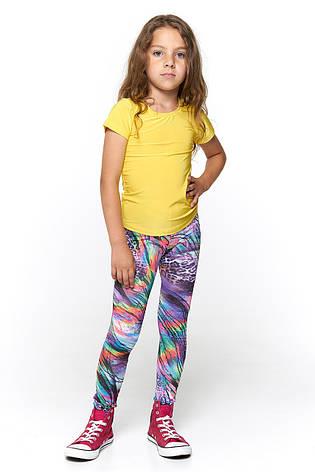 Однотонная футболка для девочки 045 желтая, фото 2