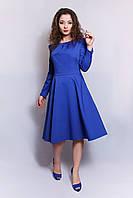 Платье Аманда офисное синее