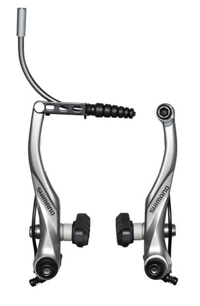 Тормоз BR-T4000 V-brake передн, серебр