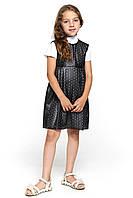 Модный сарафан для девочки 047 черный круг