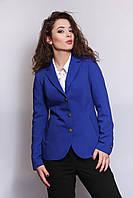 Жакет Нинель пиджак синего цвета большие размеры