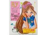 Тетрадь для записи иностранных слов Yes PU Fly 150974