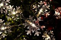 """Новогодняя гирлянда на батарейках """"Трогательные  снежинки"""", фото 1"""