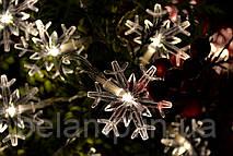 """Новогодняя гирлянда на батарейках """"Трогательные  снежинки"""""""