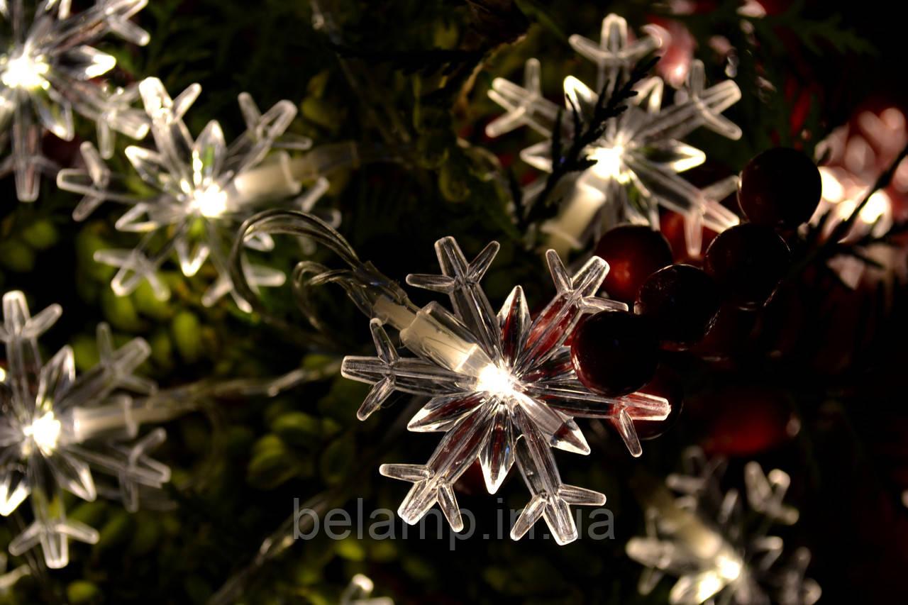 снежинки гирлянда на елку