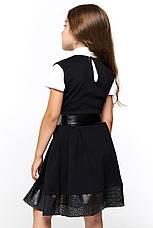Черный школьный сарафан для девочки 065, фото 3