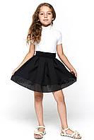 Школьная черная юбка 070