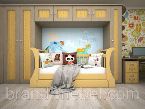"""Детская деревянная кровать """"NEW"""""""