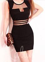 Короткое летнее платье из хлопка NJ-0529