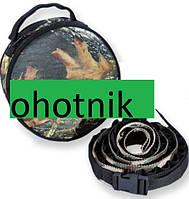 Круглая сумка-патронташ на 51 патрон(синтетика). Цвет Лес №6.