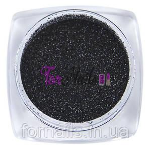 Komilfo бархатный песок 002 (черный), 2,5 грамма
