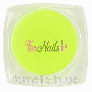 Komilfo бархатный песок 004 (зеленый неон), 2,5 грамма