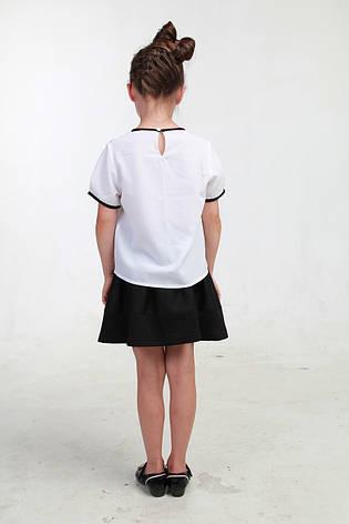 0f20a84630a Белая детская блузка короткий рукав 013  продажа