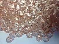 Ост. 1 уп!!! Бусина акриловая прозрачная гранёная 10 мм, упаковка 29 шт. Винный цвет, фото 1