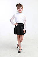 Черная юбка для девочки в школу 02