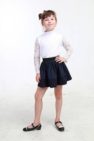 Синяя юбка для девочки в школу 02, фото 2