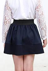 Синяя юбка для девочки в школу 02, фото 3