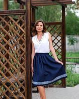 Костюм топ и юбка с вышивкой 44 размер