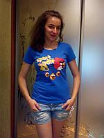 Футболка женская-молодежная  Энгри Бердз