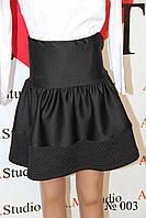 Черная юбка для школы 003