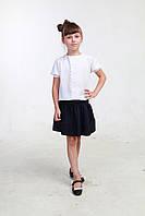 Синяя юбка для школы 003