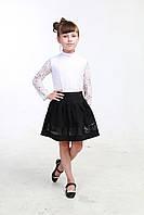 Школьная черная юбка 04