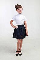 Школьная синяя юбка 04