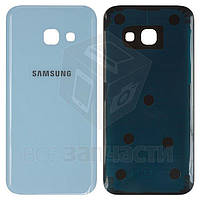 Задняя панель корпуса для мобильных телефонов Samsung A320F Galaxy A3 (2017), A320Y Galaxy A3 (2017), голубая,