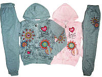 Спортивный костюм-двойка для девочки, F&D, размеры 134/140-158/164, арт. 3633