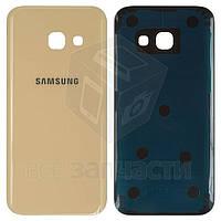 Задняя панель корпуса для мобильных телефонов Samsung A320F Galaxy A3 (2017), A320Y Galaxy A3 (2017), золотист