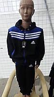 Подростковые спортивные костюмы Адидас с капюшоном