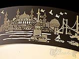 Светодиодная потолочная люстра с рисунком города, фото 6