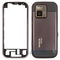 Корпус Nokia N97 mini, коричневый, оригинал (Китай)