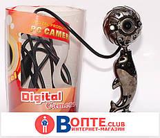 Веб-камера металлическая в форме дельфина с подсветкой PC Camera 5MP