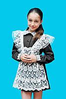 Школьное платье с длинным рукавом для девочки младшего шк. возраста
