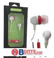 Вакуумные наушники вкладыши с микрофоном Sonna SN-1002