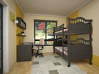 """Детская двуярусная деревянная кровать """"Трансформер 10"""""""