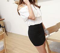 Мини юбка черная женская