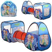 Палатка 7015 Фрозен Frozen с тоннелем, для девочки, 2в1