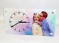 Печать логотипов, фото и изображений на часах  16*30см