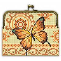 Заготовка для вышивки клатча Золотая бабочка