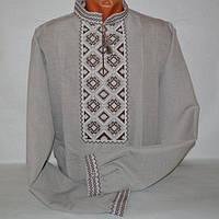 Сорочка вышиванка для мужчин лен-габардин