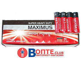 Батарейка Maximus R06 пальчиковая,солевая AA 1.5V ( Максимус )