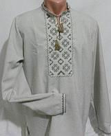 Сорочка вышиванка для мужчин лен