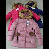 Зимняя подростковая куртка для девочек оптом GRACE.ВЕНГРИЯ
